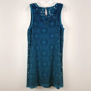 Johnny Was Dresses - Johnny Was Eyelet Shift Dress Crochet Lace Small
